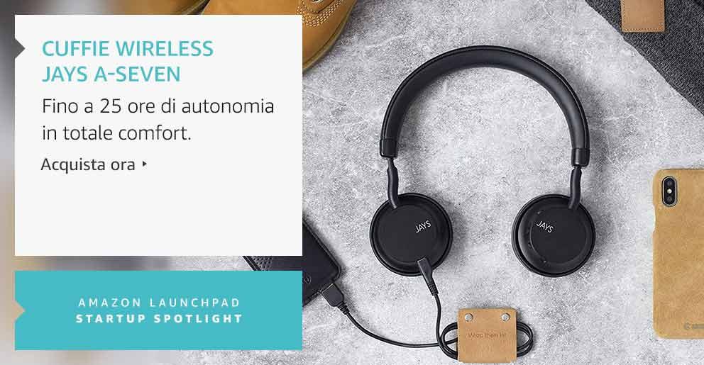 Amazon Launchpad: Cuffie wireless Jays a-Seven