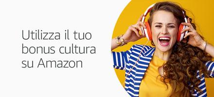 Utilizza il tuo bonus cultura su Amazon