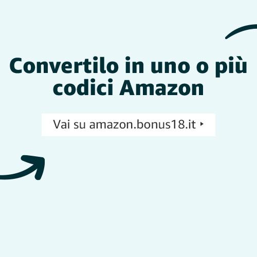 Convertilo in uno o più codici Amazon