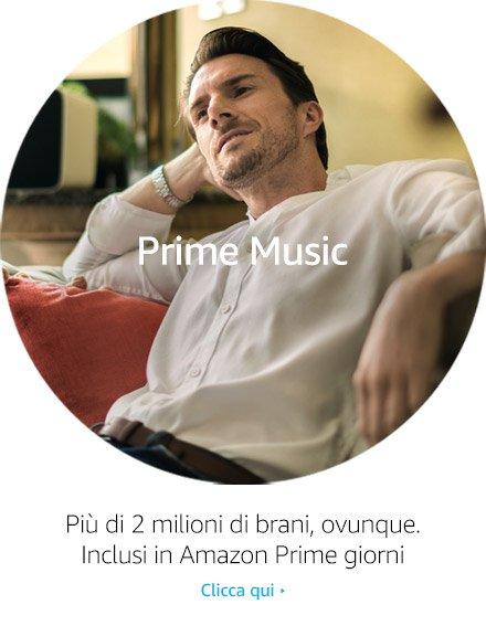 Più di 2 milioni di brani, avunque. Inclusi in Amazon Prime giorni