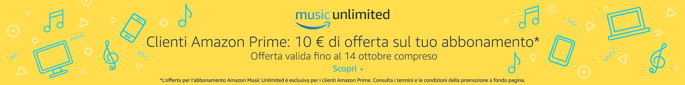 Amazon Music promotion 10€ Amazon Prime
