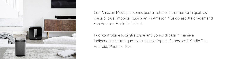 Con Amazon Music para Sonos puedes escuchar tu música en cualquier parte de tu casa