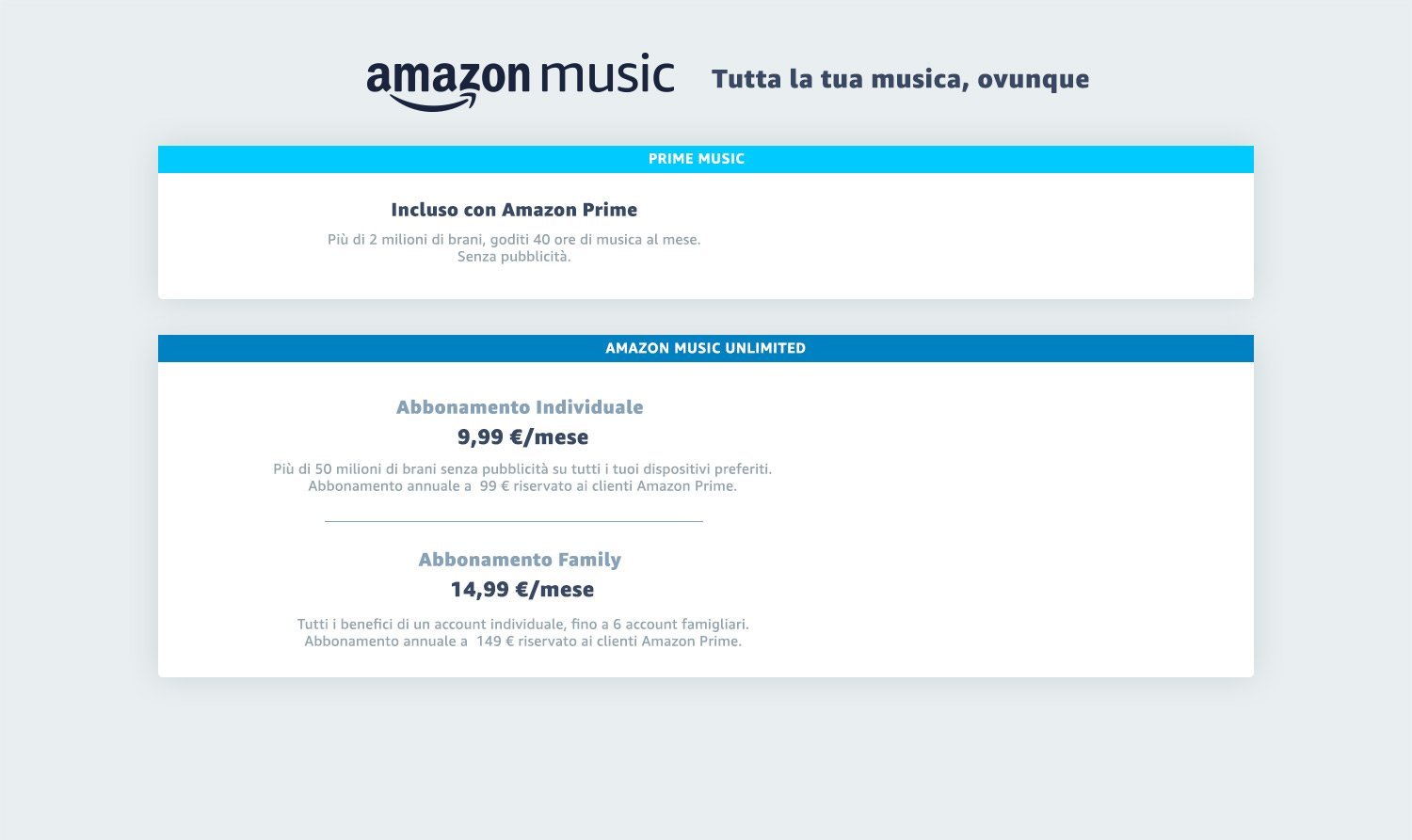 Amazon Music Unlimited. Tutta la tua musica, ovunque tu sia