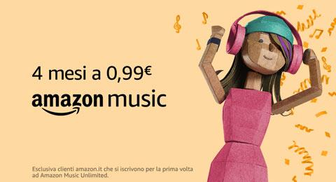 Amazon Music Unlimited: 4 mesi a 0,99€