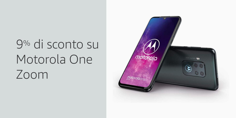 Motorola One Zoom 9% di sconto