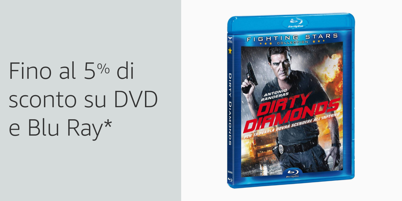 Fino al 5% di sconto su DVD e Blu Ray