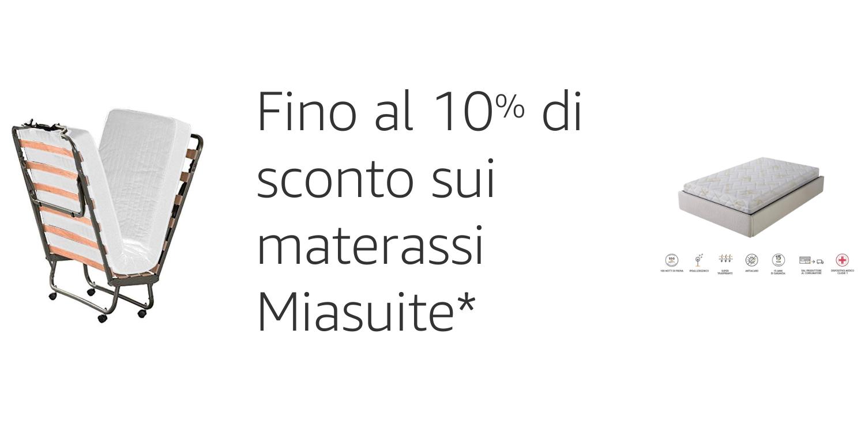 Fino al 10% di sconto sui materassi Miasuite
