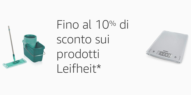 FIno al 10% di sconto sui prodotti Leifheit