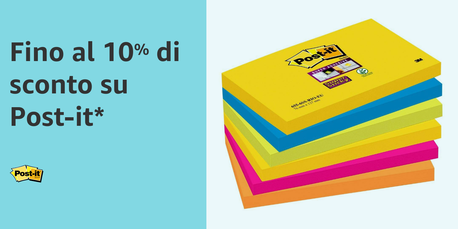 10% di sconto su Post-it