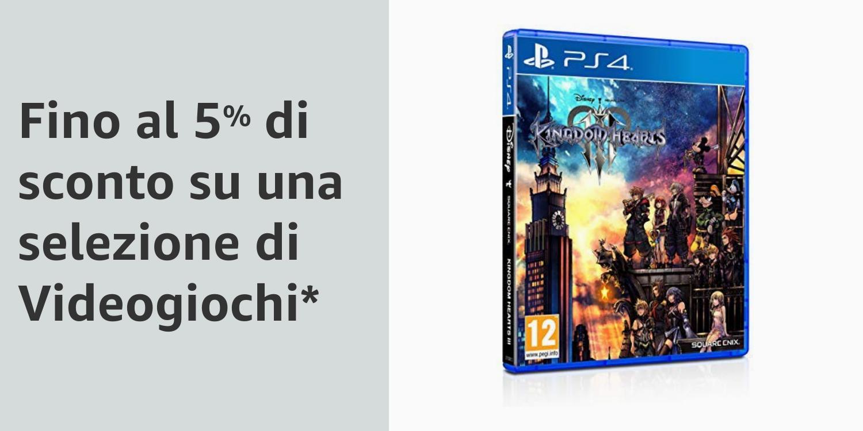 Fino al 5% di sconto su una selezione di videogiochi
