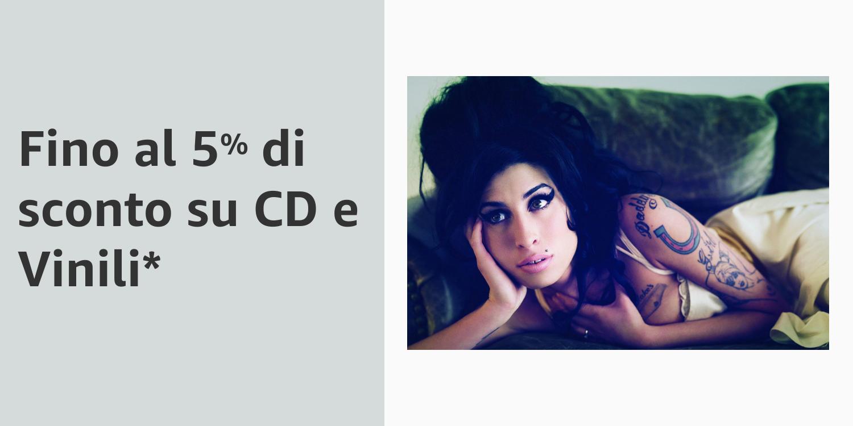 Fino al 5% di sconto su CD e vinili