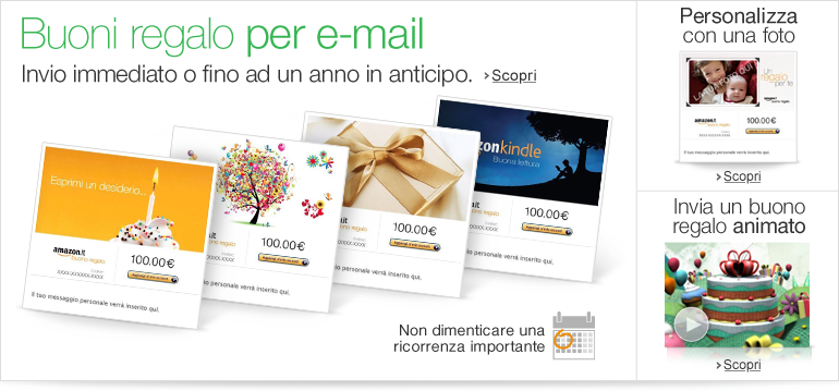 Buoni regalo for Codici regalo amazon gratis