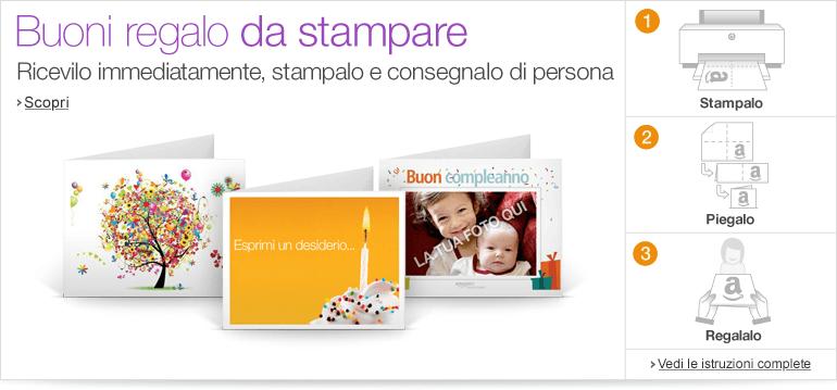 Buoni regalo for Buoni omaggio amazon