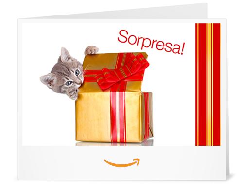 Buono regalo stampa gatto sorpresa amazon for Promozione buono regalo amazon