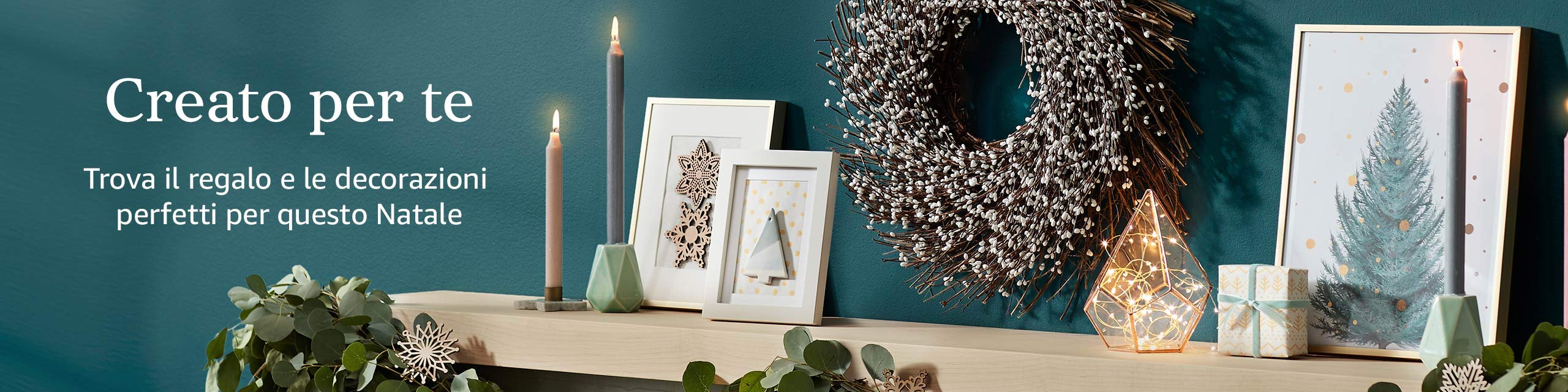 Creato per te Trova il regalo e le decorazioni perfetti per questo Natale