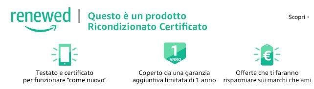Ricondizionato certificato su Amazon Renewed