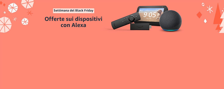 Offerte sui dispositivi con Alexa