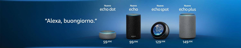 Ti presentiamo i dispositivi Echo