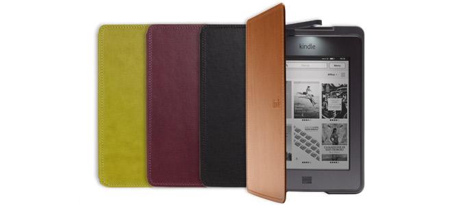 La custodia ufficiale Amazon in pelle per Kindle Touch con luce
