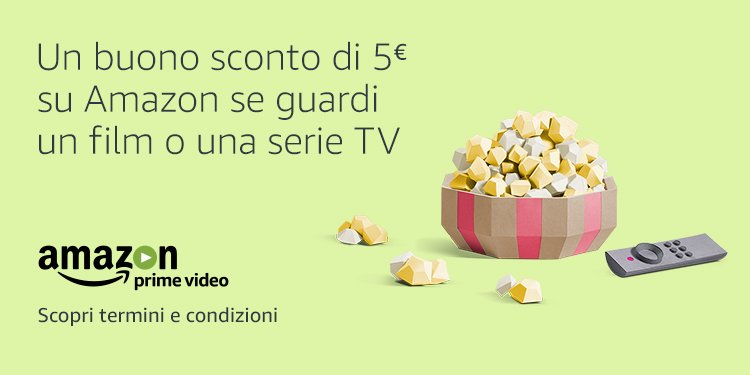 EUR 5,00 per i tuoi acquisti se guardi un film o una serie TV
