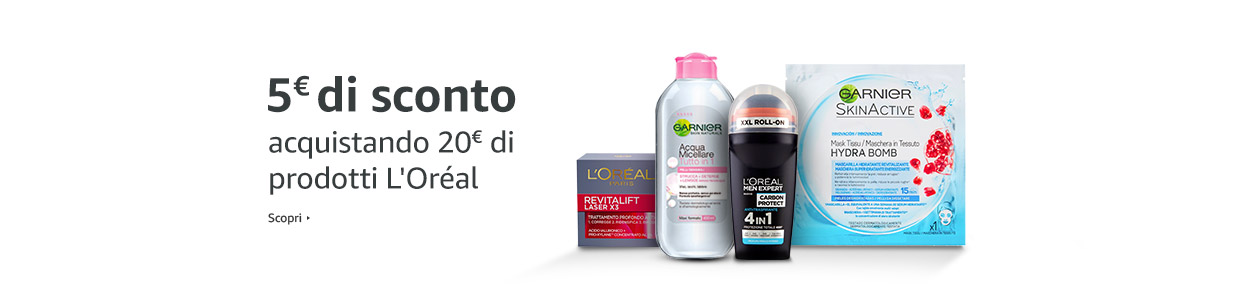 Promo L'Oréal - €5 di sconto