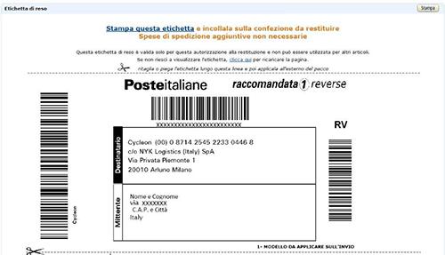 Amazon for Indirizzo postale