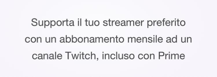 Supporta uno streamer