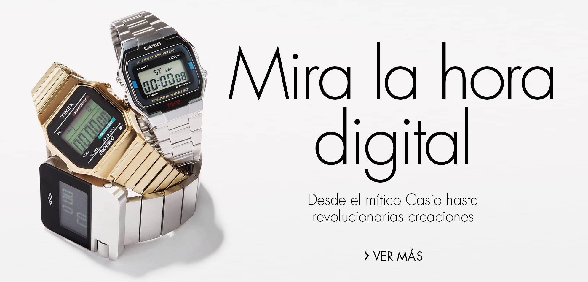 Mira la hora digital