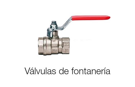 Válvulas de fontanería