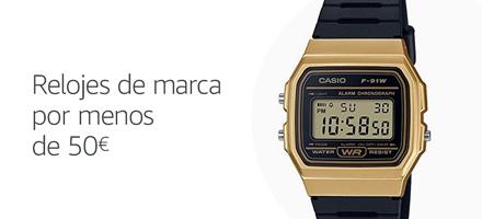 Relojes de marca por menos de 50 euros