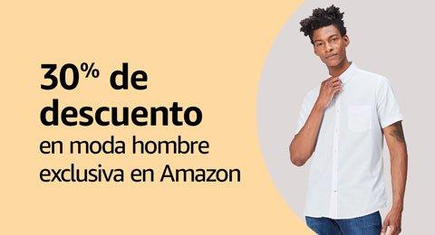 330% de descuento en moda hombre exclusiva en Amazon