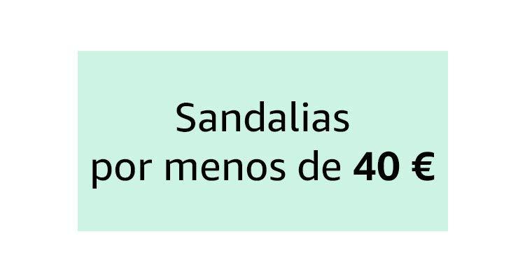 Sandalias por menos de 40 €