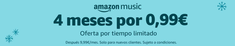 Amazon Music Unlimited - 4 meses por 0.99€