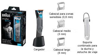 Braun CruZer 5 Body - Afeitadora corporal masculina: Amazon.es: Salud y cuidado personal