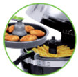 freidora sana actifry 2 en 1 YV9601 tefal - 2 platos al mismo tiempo