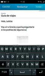 Teclado BlackBerry