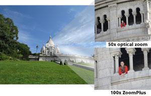 Acércate y capta todos los detalles de los sujetos distantes con un enorme zoom óptico 50x y hasta 100x con ZoomPlus