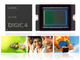 El sensor CMOS y el procesador DIGIC 4 se combinan perfectamente en la EOS 550D