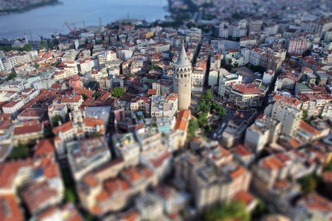El Modo Miniatura transforma paisajes normales en miniaturas