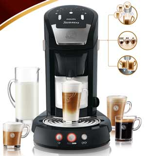 philips hd785362 machine caf monodose senseo cappuccino 2650 watts 2 tasses 1 2 litres noir. Black Bedroom Furniture Sets. Home Design Ideas