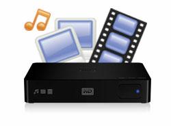 Un reproductor multimedia HD con un disco duro de alta capacidad integrado.