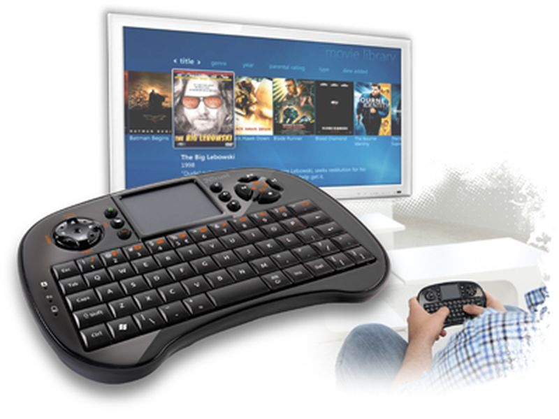 Trust Tocamy Wireless Entertainment - Teclado con touchpad para portátil o Media Center PC, Negro: Amazon.es: Informática