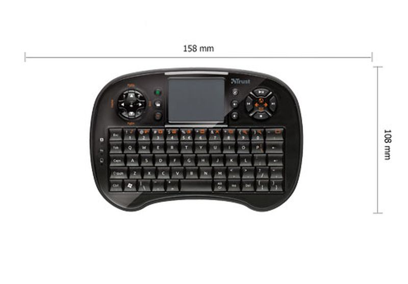 Trust Tocamy Wireless Entertainment - Teclado con touchpad
