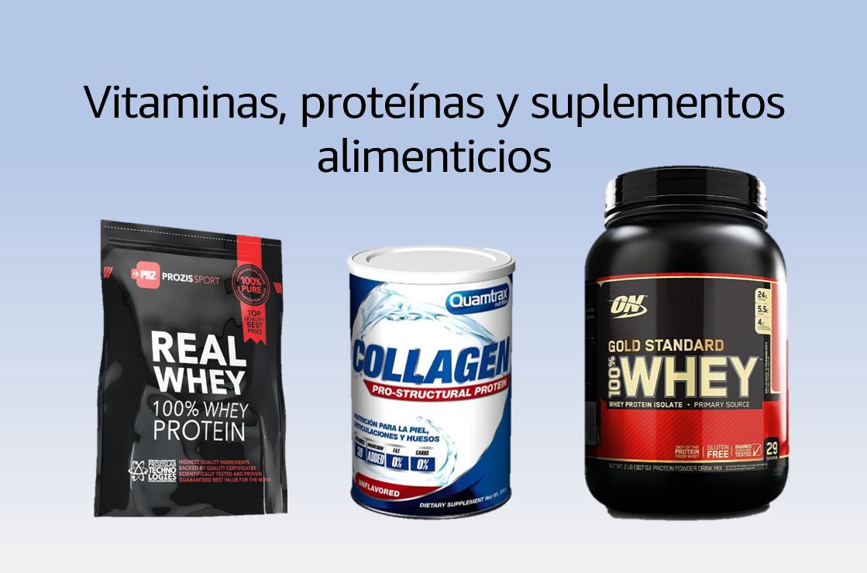 Vitaminas, proteínas y suplementos alimenticios