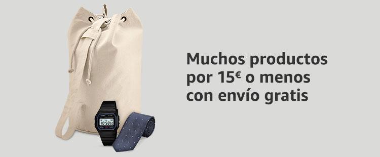Muchos productos por 15€ o menos con envío gratis