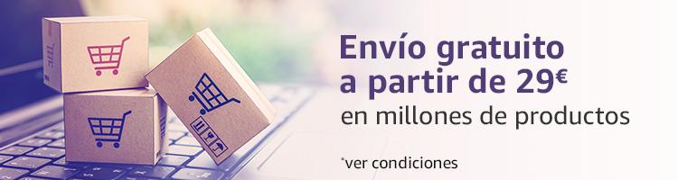 Envío gratuitos a partir de 29€ en millones de productos enviados por Amazon
