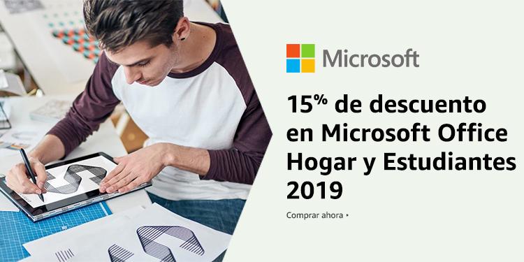 15% de descuento en Microsoft Office Hogar y Estudiantes 2019