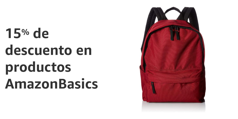 15% de descuento en productos Amazon Basics