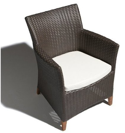 Strathwood Cypress All Weather Wicker Bistro Chair Brown