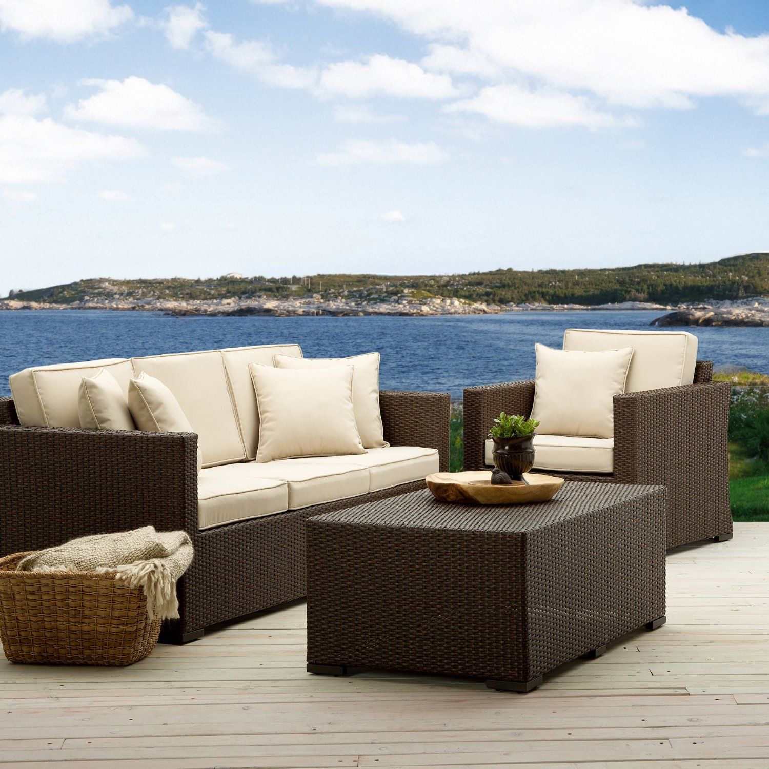 Strathwood griffen poltroncina in vimini per tutti i for Outdoor furniture amazon